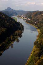 Elbe an der Grenze zur Tschechei bei Schmilka Hirschmühle