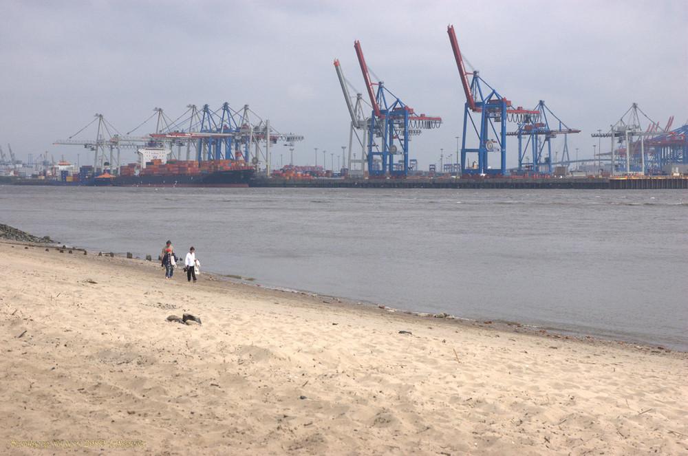 Elbe bei Hamburg, Sommer 2009