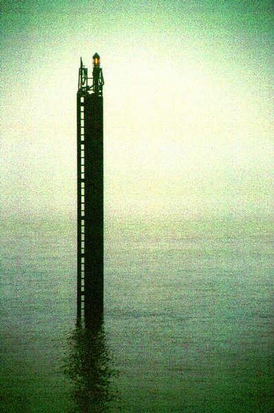 Elbe bei Nebel