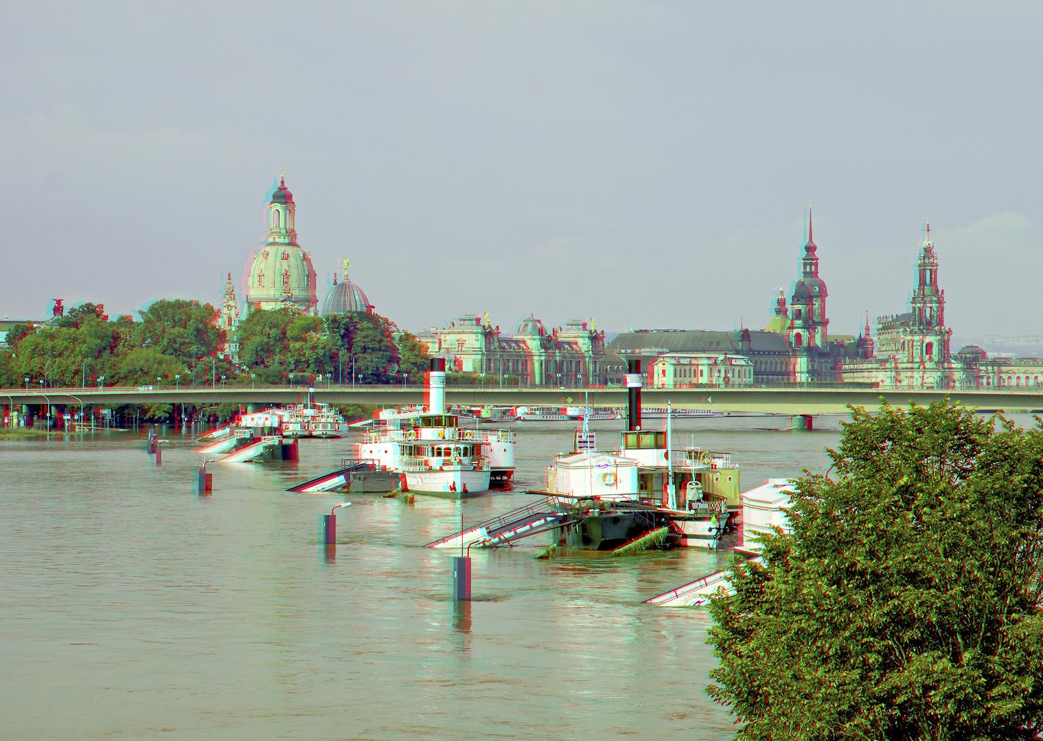 Elbe-Hochwasser in Dresden