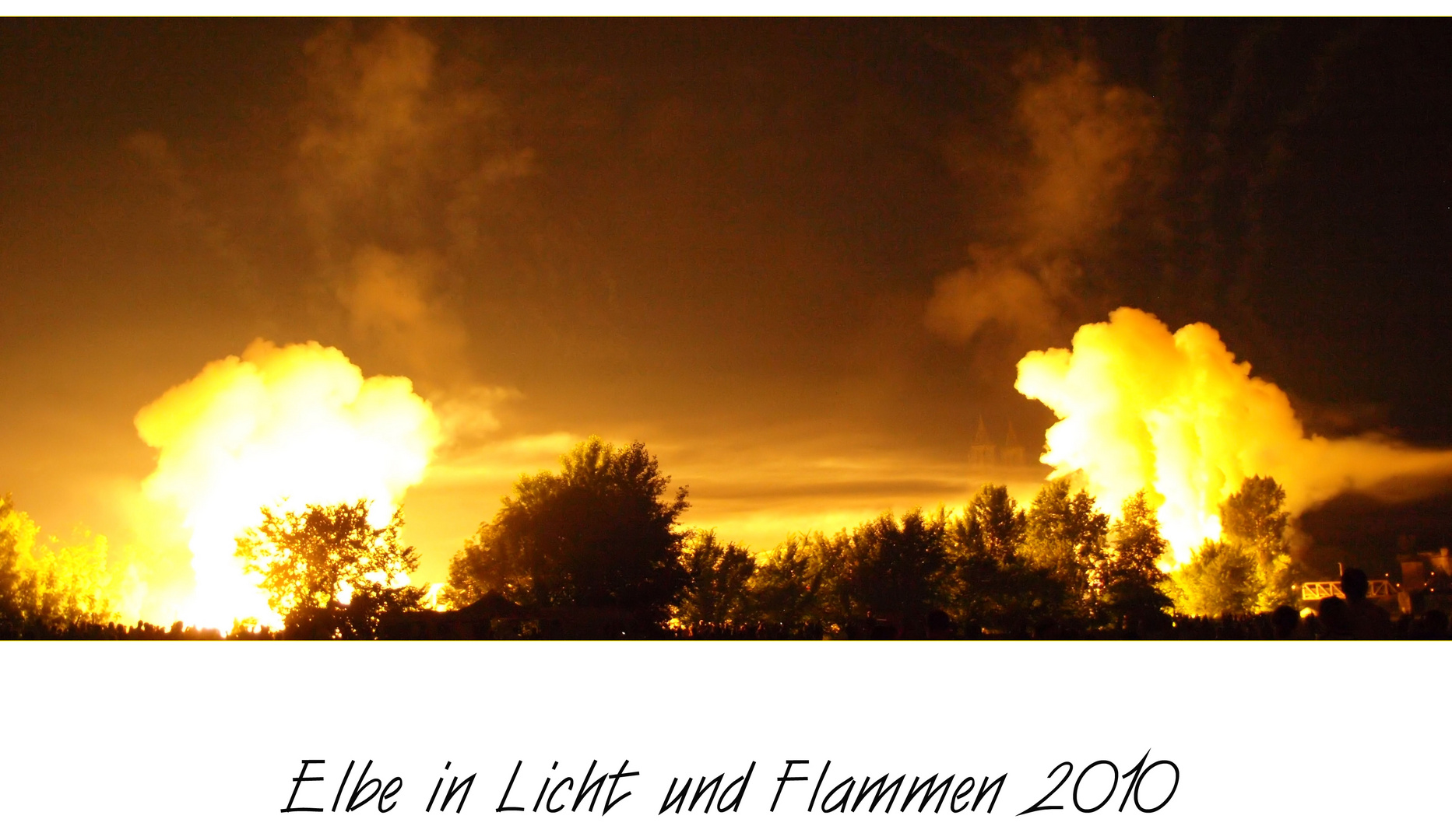Elbe in Flammen
