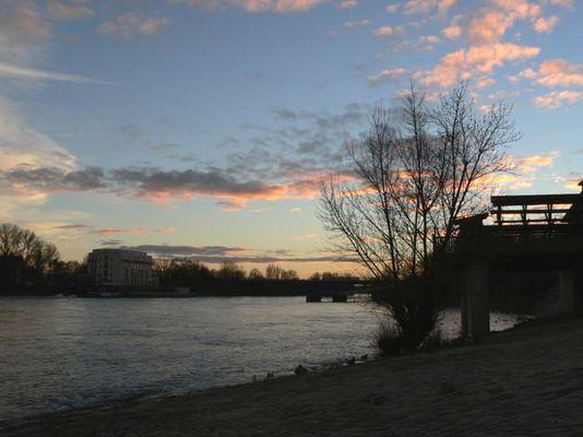 Elbe & Wunderschöne Wolkenformation