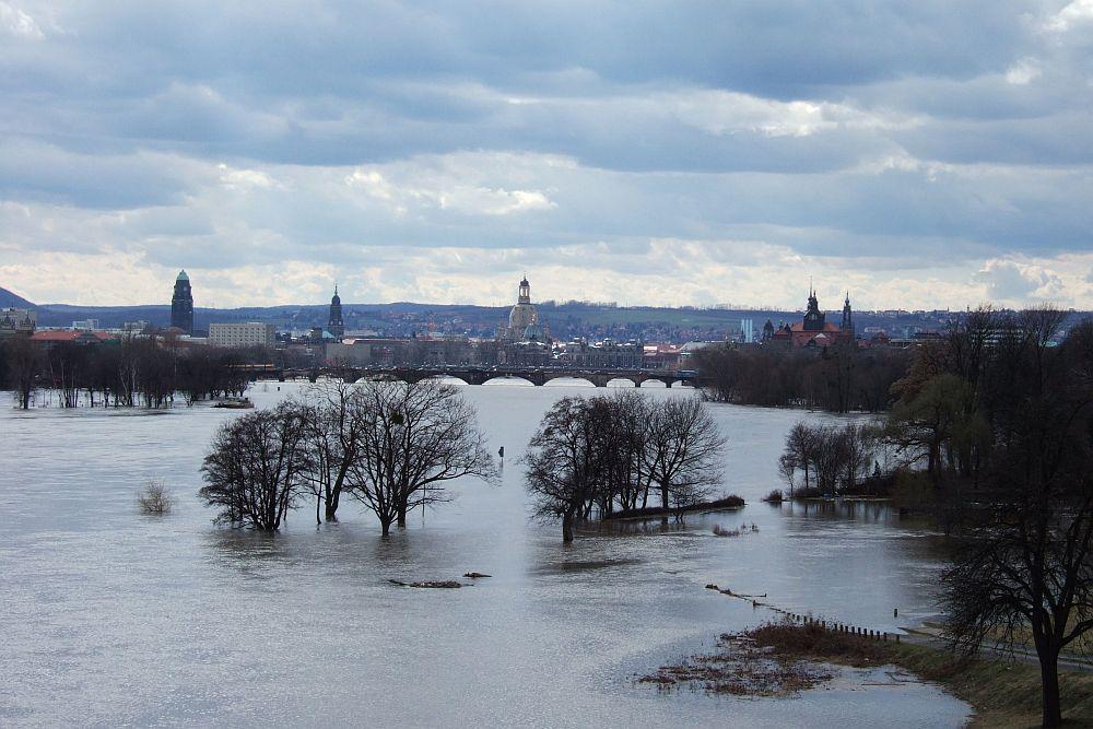 Elbehochwasser bei Dresden