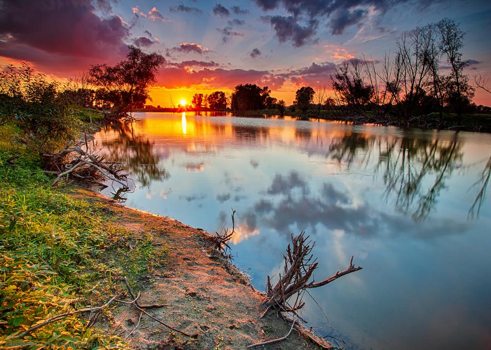 Elbmarsch Sonnenuntergang