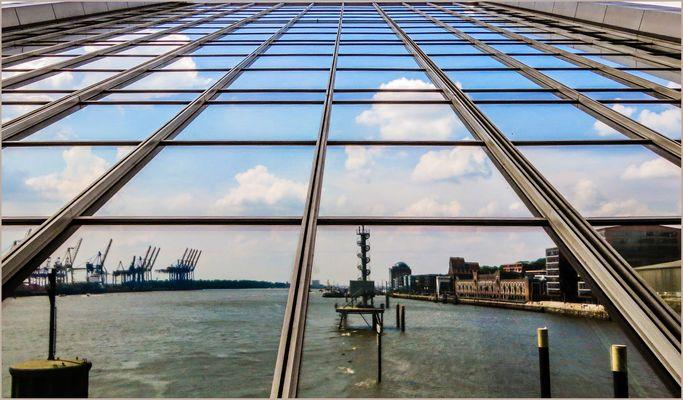 Elbsicht vom Dockland aus