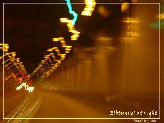Elbtunnel at Night