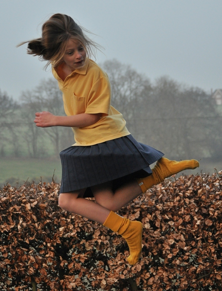 Eldest Granddaughter in midair