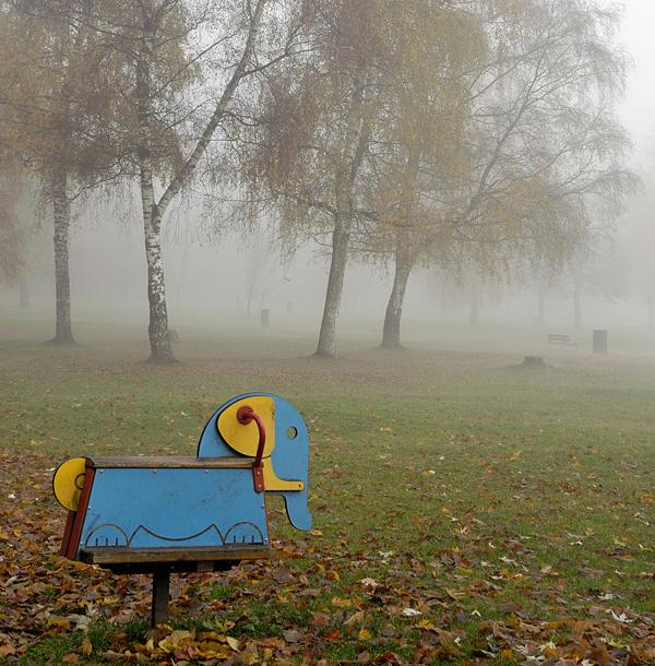 Elefant im Nebel