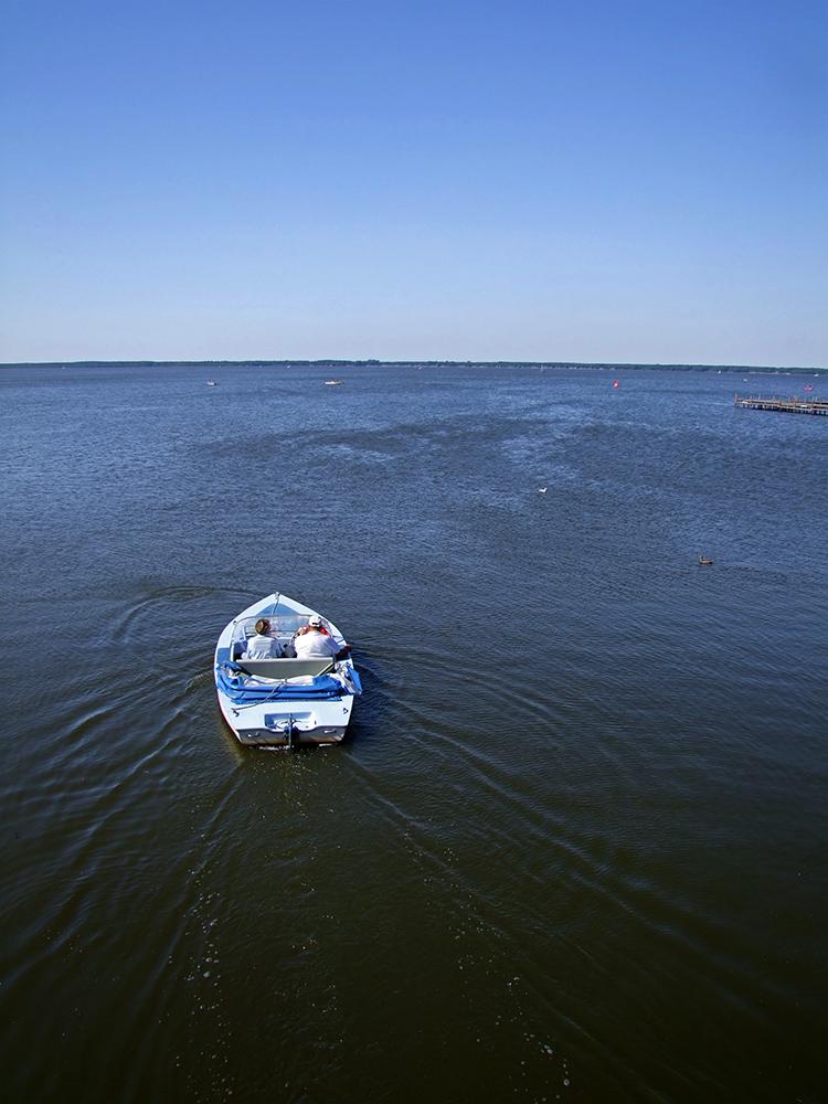 Elektroboot am Steinhuder Meer