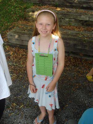 Elena in der Schule