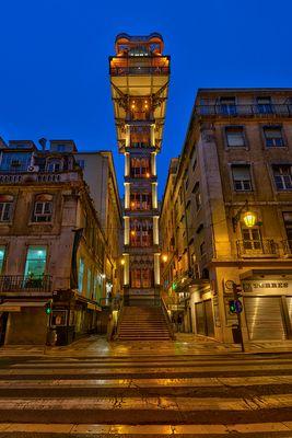 Elevador de Santa Justa in Lissabon
