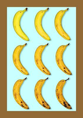 Elf Tage einer Banane