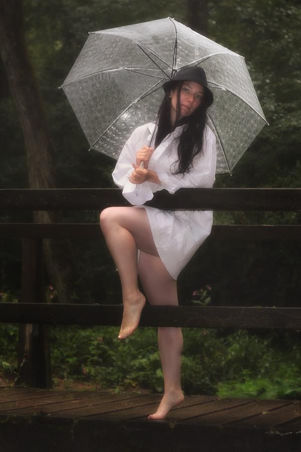 Elfe im Regen