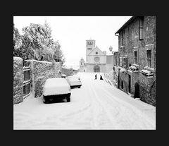 Elio Ciol - Nevicata, Assisi 1991