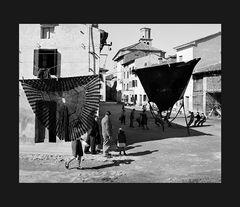 Elio Ciol - Tiro alla fune, Marano lagunare 1958