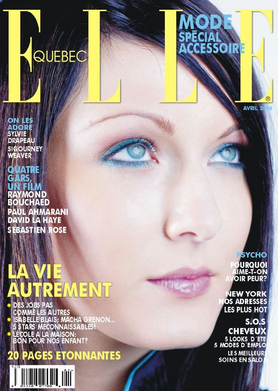 Elle is blue like ice