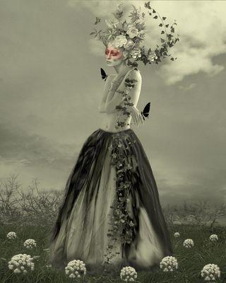 elle vit d,amour de fleur et de poésie