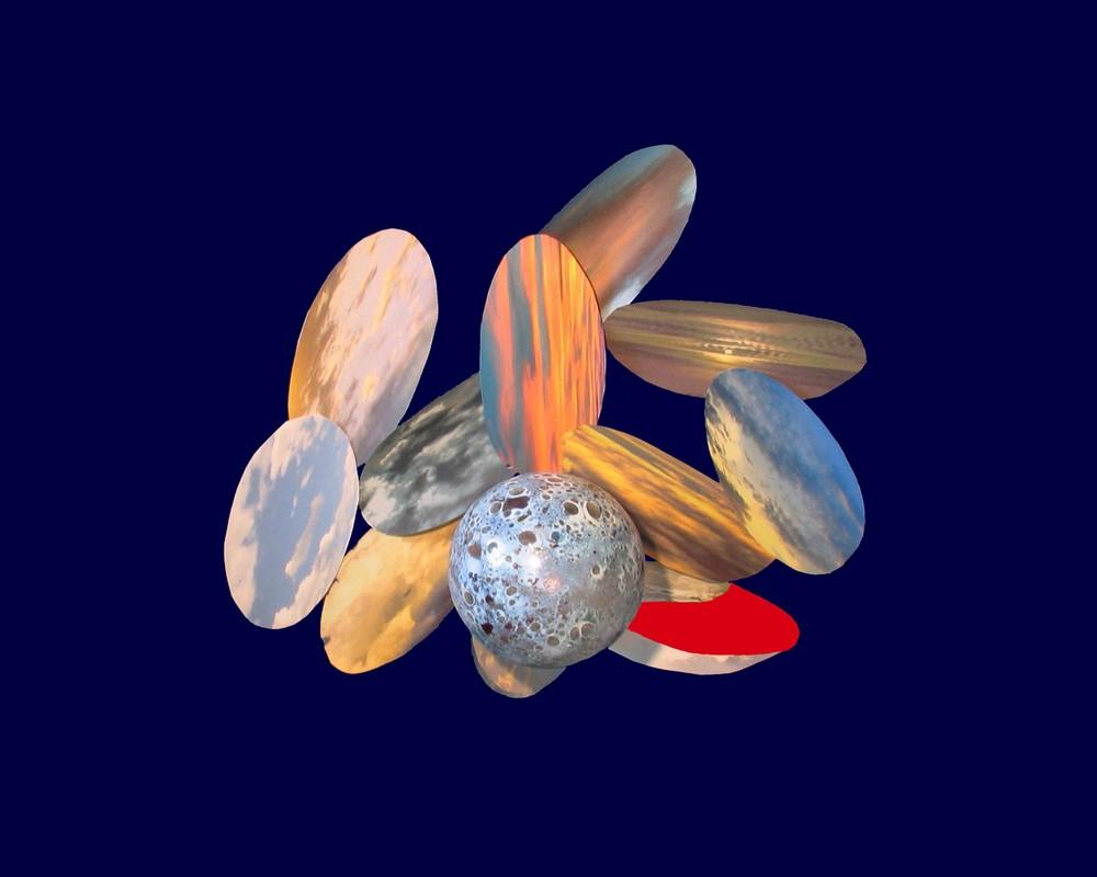 Ellipses de nuages et boules de verre - '7'