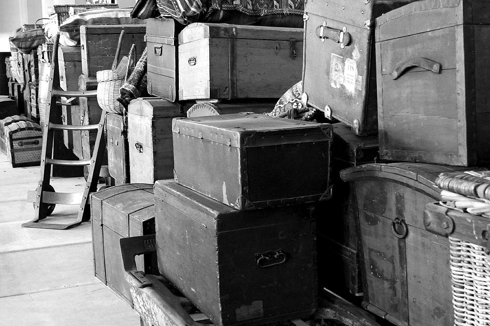 Ellis Island, das Gepäck