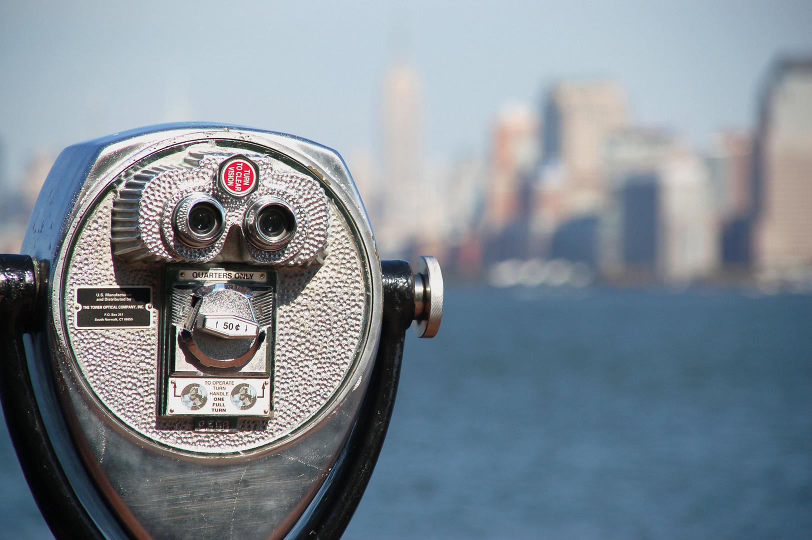 Ellis Island View of Manhattan