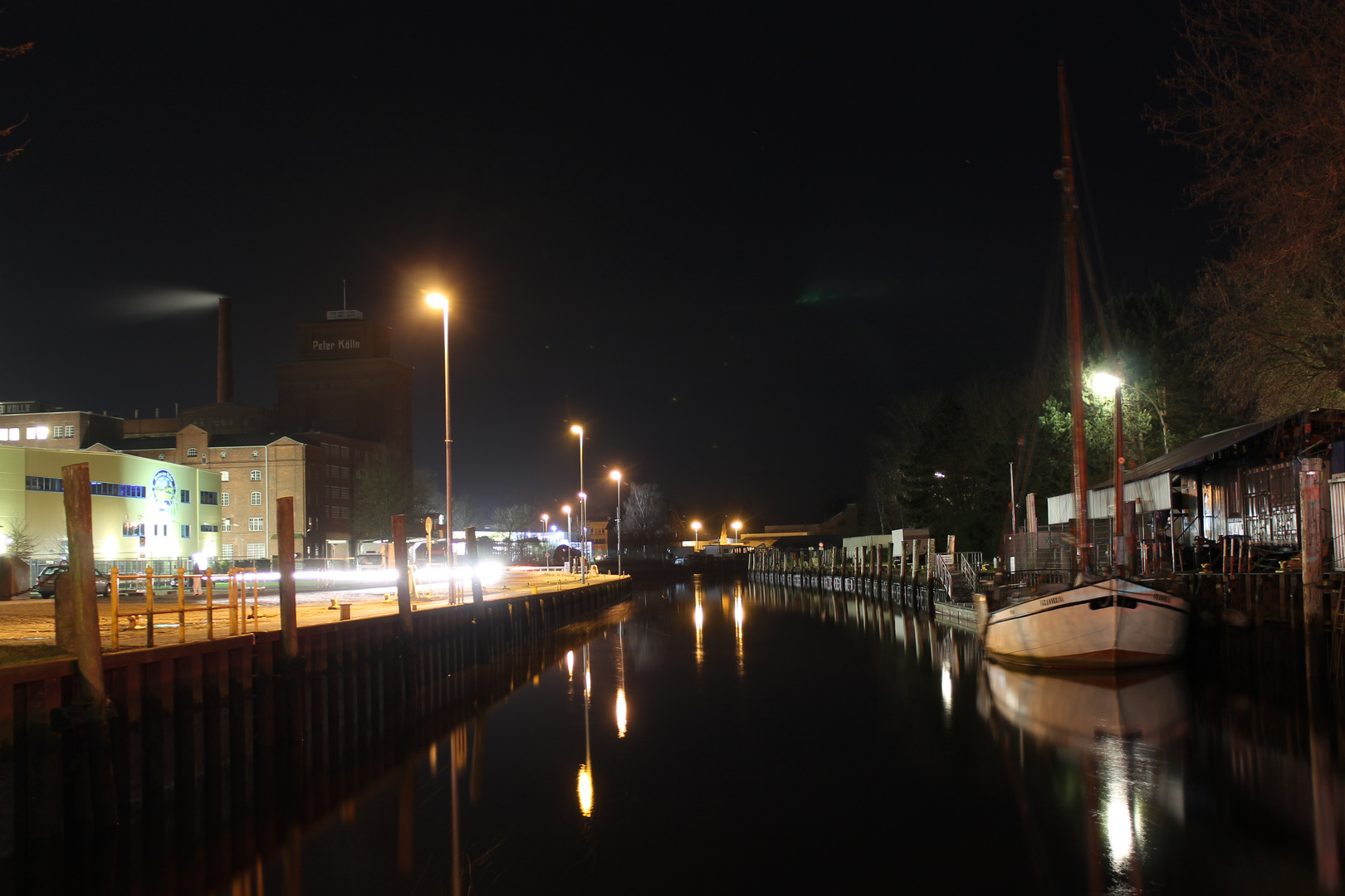 Elmshorn Hafen bei Nacht