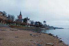 Eltville - Rheinufer - 4. Januar 2016 - es wird gerade hell