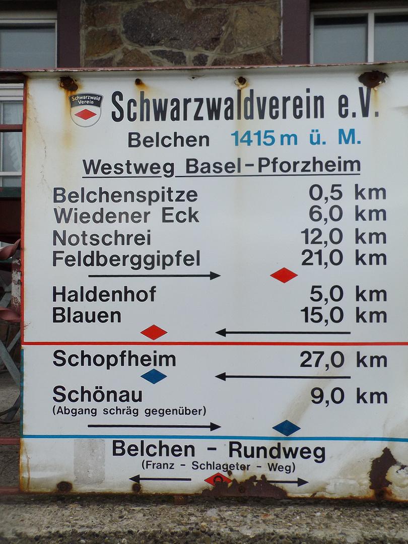 Emailtafel des Schwarzwaldvereins
