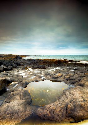 ...emerged rocks...