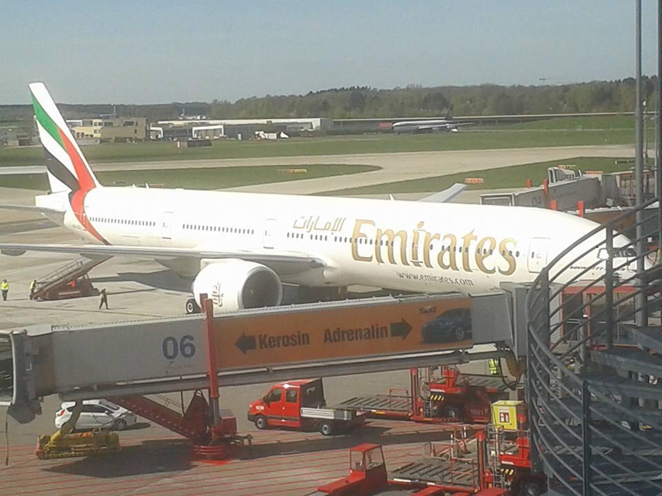 Emirates-Flieger... New York - Hamburg - Dubai