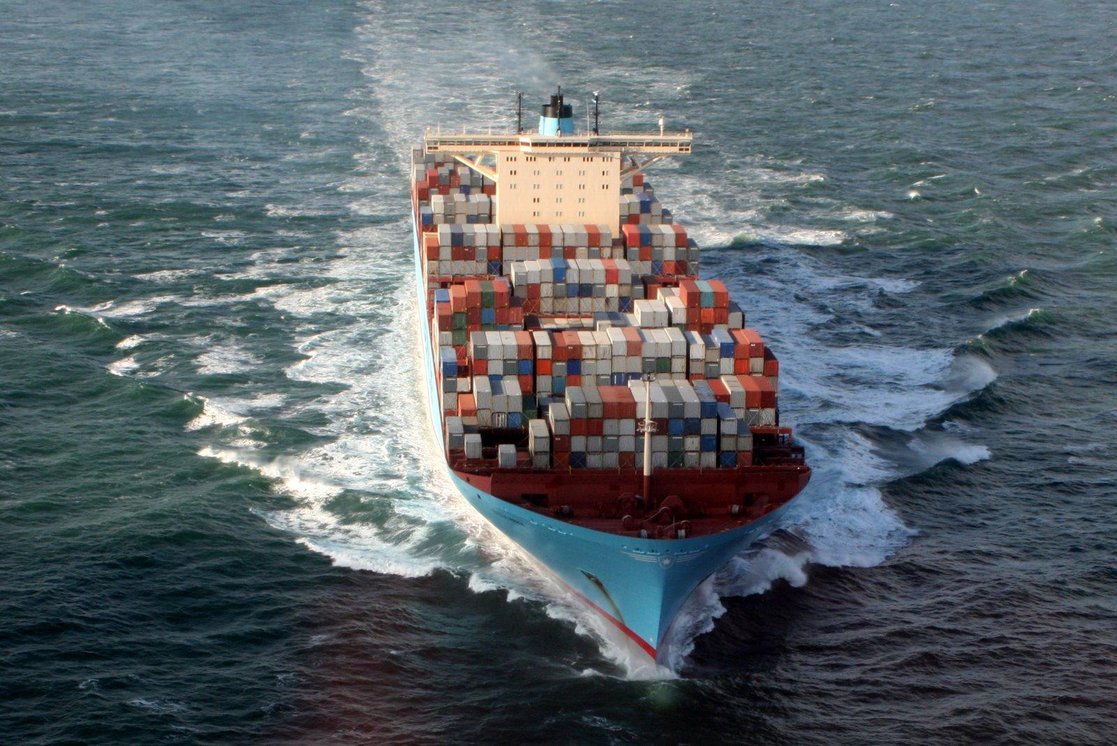 Emma Maersk on North Sea