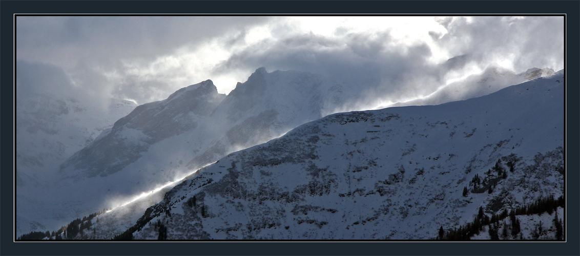 Emotionen... Naturschauspiel in den Glarner Bergen...