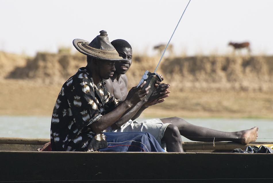 Empfang auf dem Niger