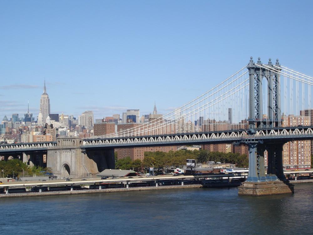Empire, Chrysler and Manhatten Bridge
