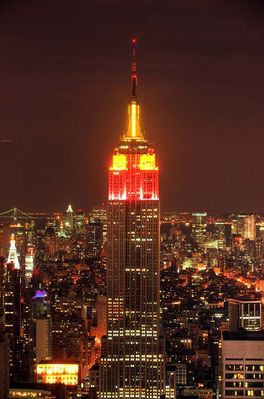 Empire State Building bei -3 °C
