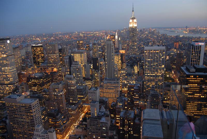 Empire State Building in der Dämmerung