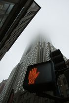Empire State Building in Nebel