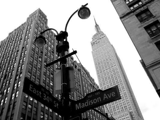 Empire State Building - Manhattan Black & White