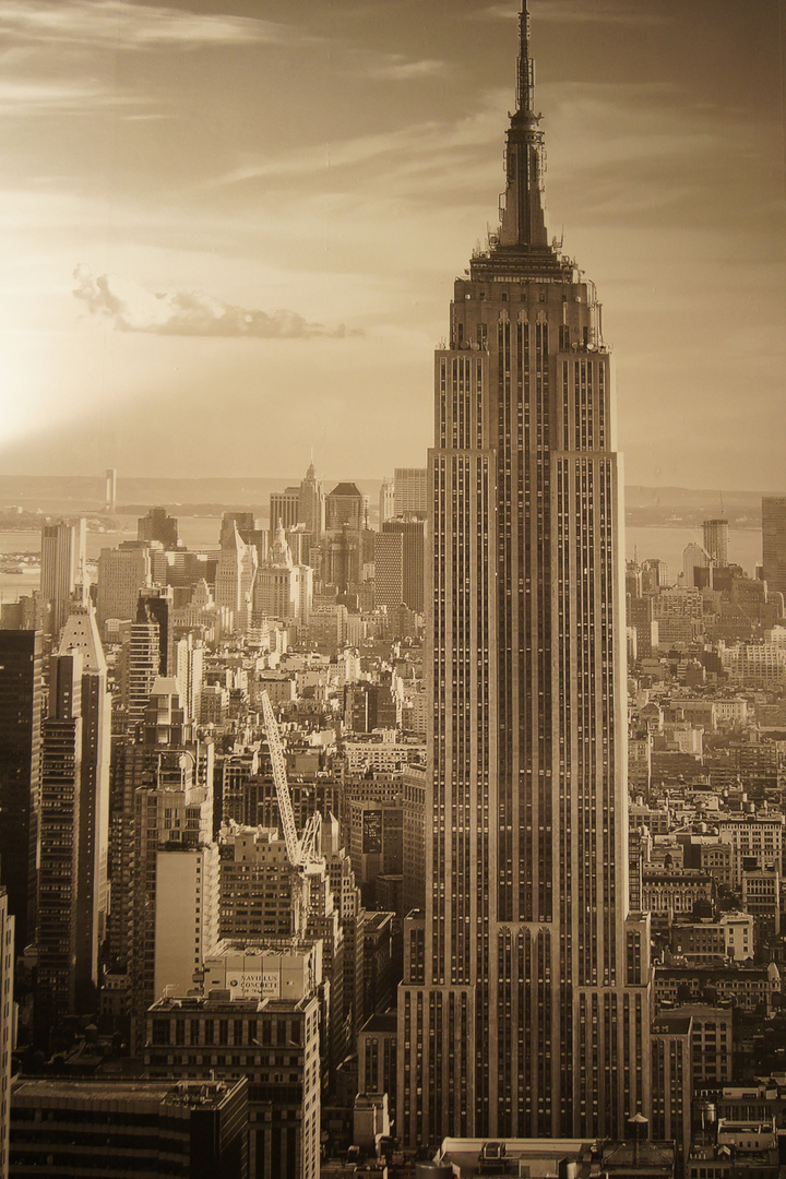 empire state building manhattan new york city foto. Black Bedroom Furniture Sets. Home Design Ideas