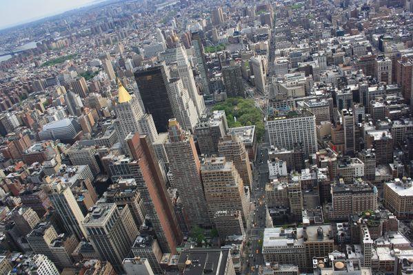 Empire State Building vue du ciel