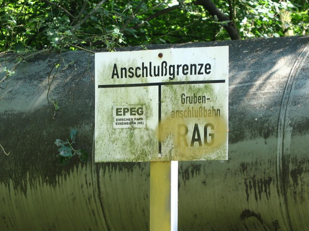 Emscherpark Grenze zur RAG