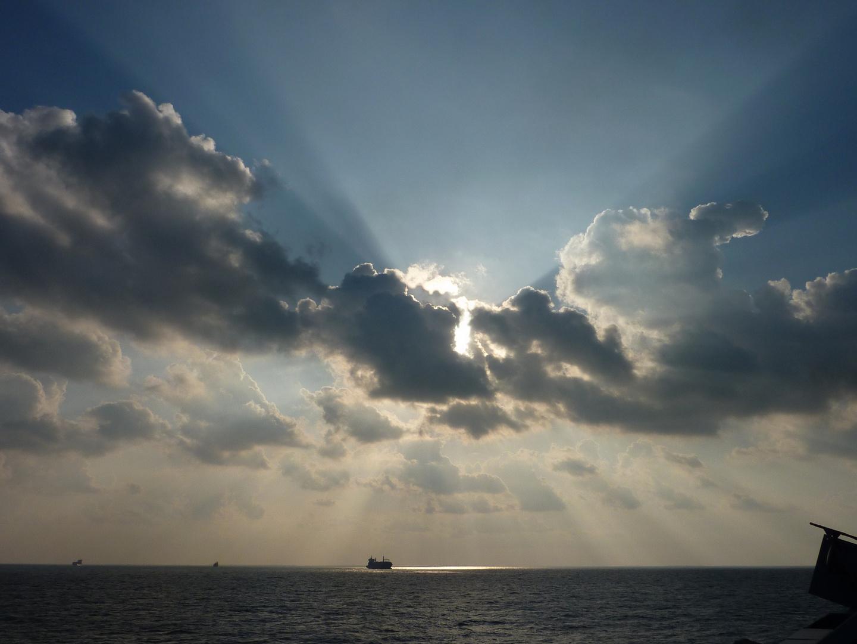 En attente du passage du Canal de Suez