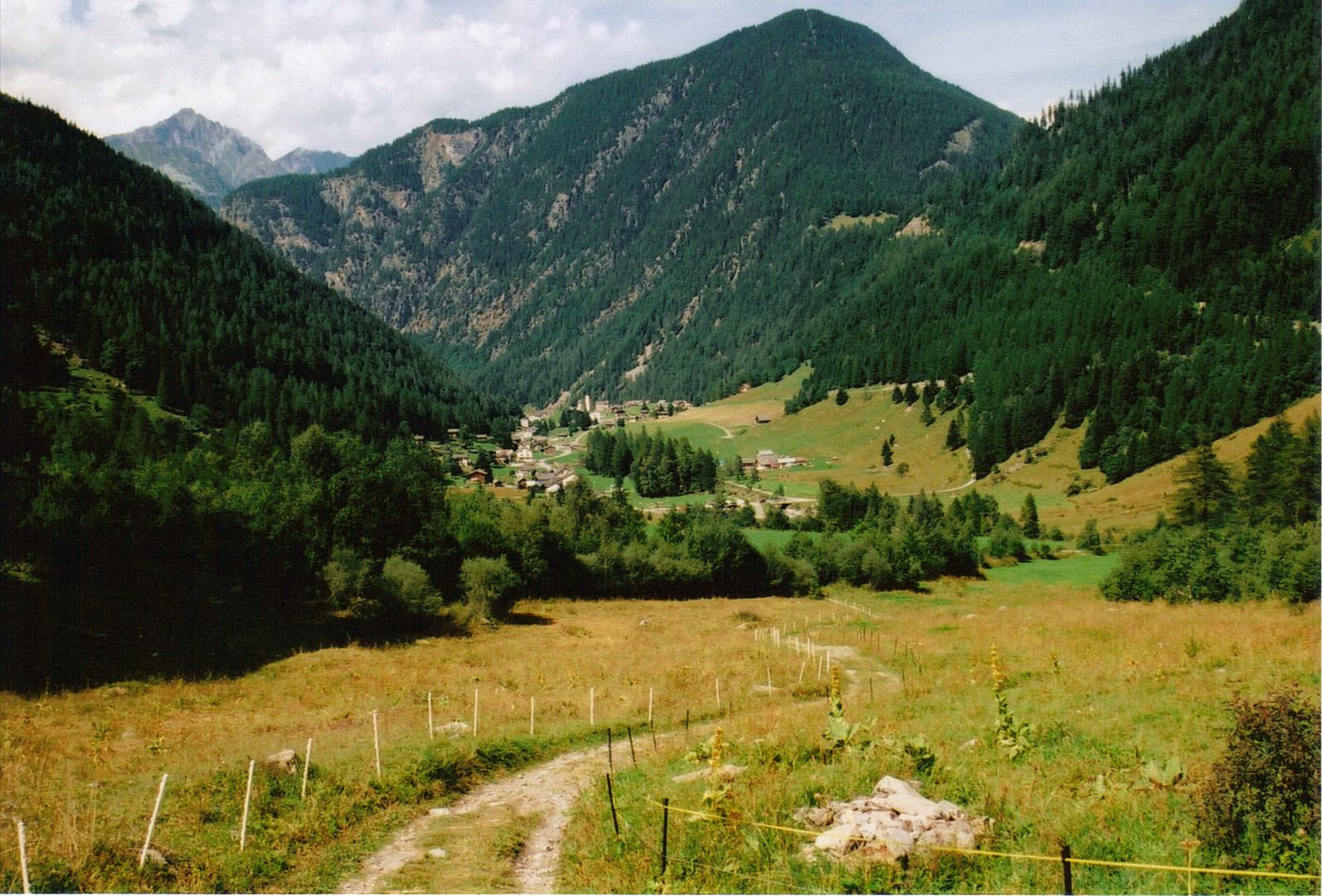 en descendant vers trient, suisse