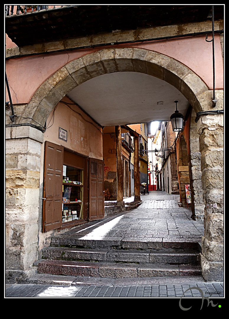 En el casco antiguo de León