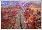 EN EL LEJANO OESTE-EL GRAN CAÑON detalles -vista aerea-CALIFORNIA -USA