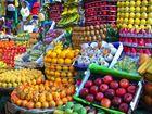 En el mercado de frutas