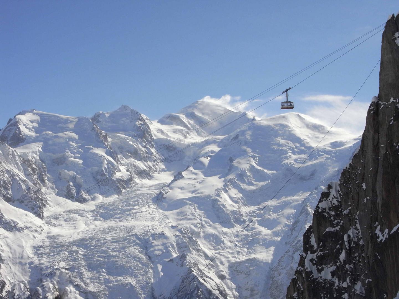 En face du Mont-Blanc