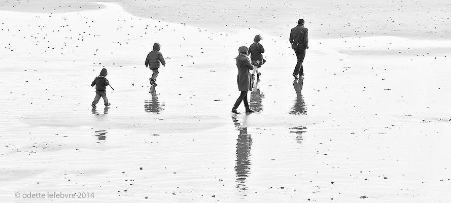 En hiver sur la plage