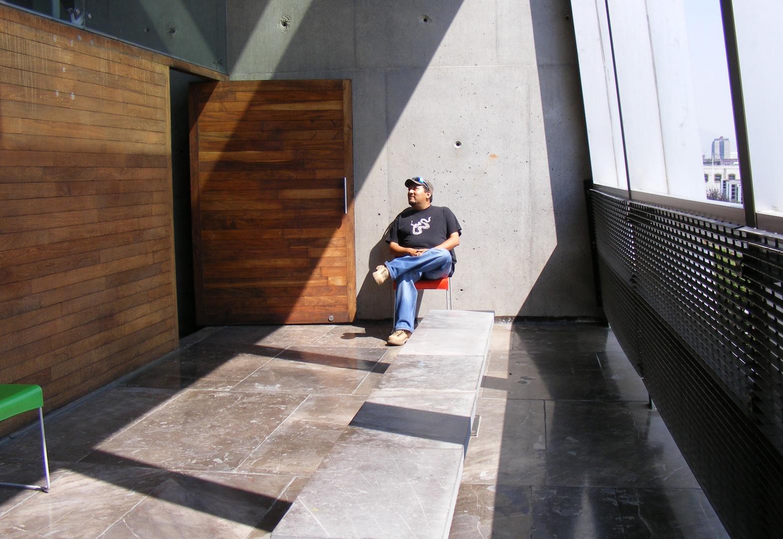 En la biblioteca Jose Vasconcelos, México, D.F.