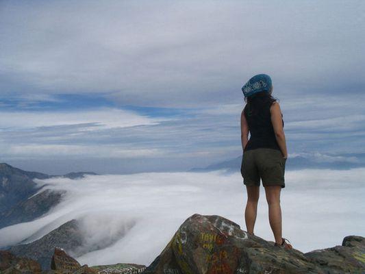 En la cumbre del cerro La Campana