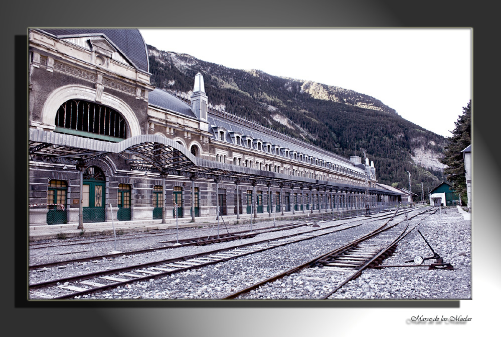 ...en la estación...